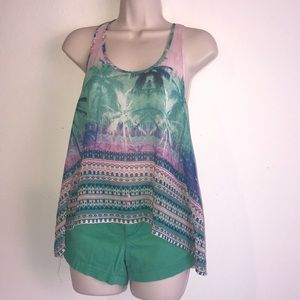 Aeropostale Palm Tree Tank